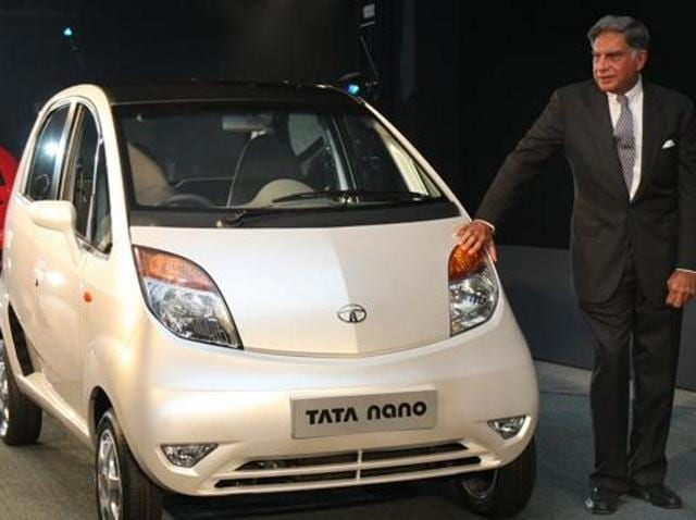 File photo of the launch of Tata Nano at the 9th Auto Expo in New Delhi on January 10, 2008.