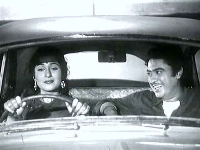 A scene from the classic Chalti ka Naam Gaadi