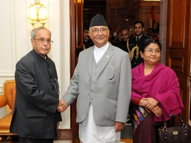 Nepal Prime Minister KP Sharma Oli called on President Pranab Mukherjee during his last visit to India.