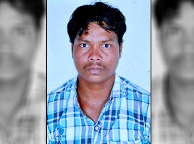 A picture of constable Kalmu Hidma who was abducted by suspected Maoists in Sukma district on Tuesday.