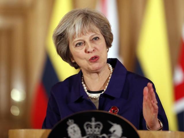Theresa May,British sailors in Indian prison,UK PM India visit