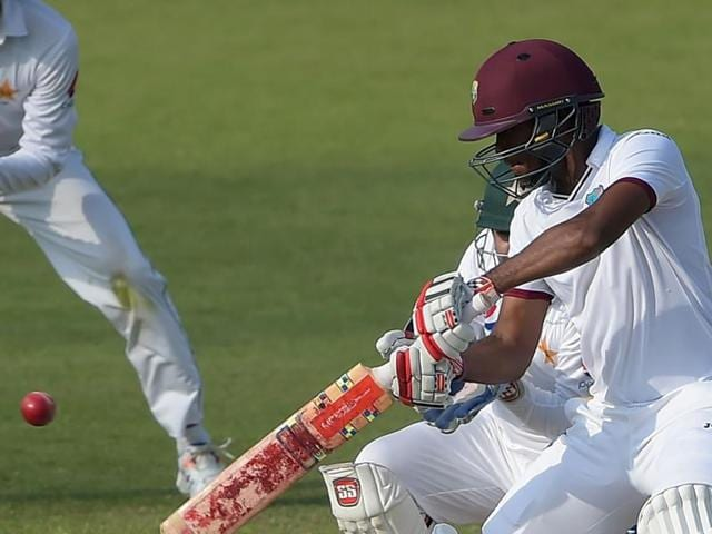 Kraigg Brathwaite once again frustrated Pakistan  as West Indies needed 39 runs on the final day to pull off a famous win.