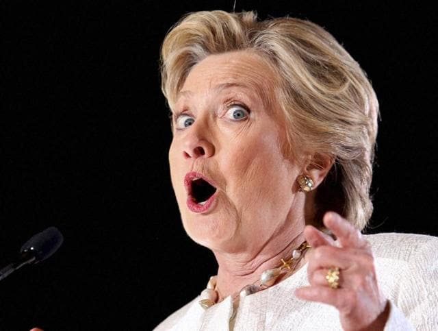 """It's not uncommon for """"rapists"""" protesters to show up at Clinton rallies, but the Democratic nominee offered a rare reaction."""