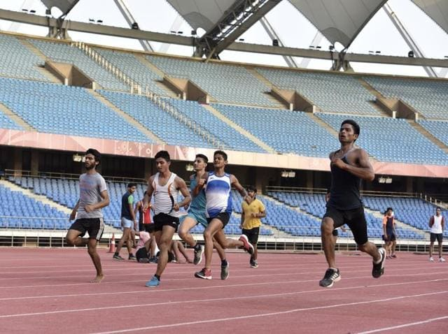 Even when Indian Super League (ISL) matches are held at JNS, the home ground of the Delhi Dynamos franchise, the main track is out of bounds for athletes.