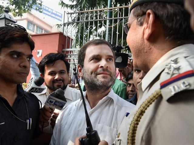 """Criticising Rahul Gandhi for visiting RML Hospital to meet Grewal's relatives, a BJP spokesman Nalin Kohli said, """"there is a time and place for everything""""."""