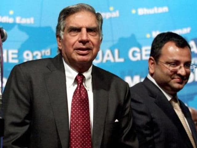 File photo of Ratan Tata with ousted chairman Cyrus Mistry.