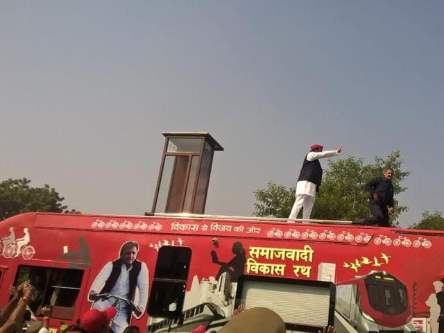 Three of Uttar Pradesh's biggest parties have launched or are launching massive road shows across the state this week ahead of crucial assembly polls early next year.
