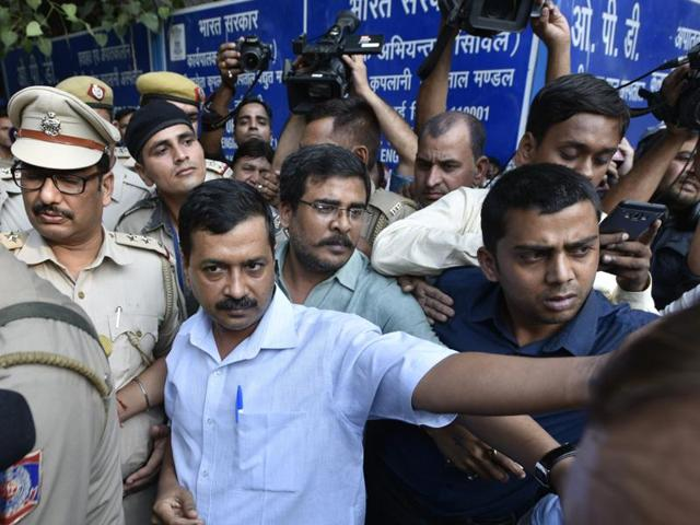 Kejriwal had claimed that he was still being held in detention after he expressed his desire to meet the family of ex-serviceman Ram Singh Grewal who allegedly committed suicide over the OROP issue.