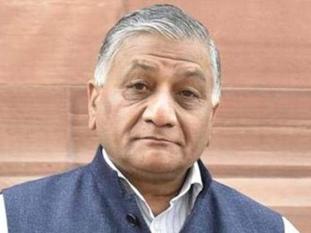 Union minister and ex-army chief VK Singh.