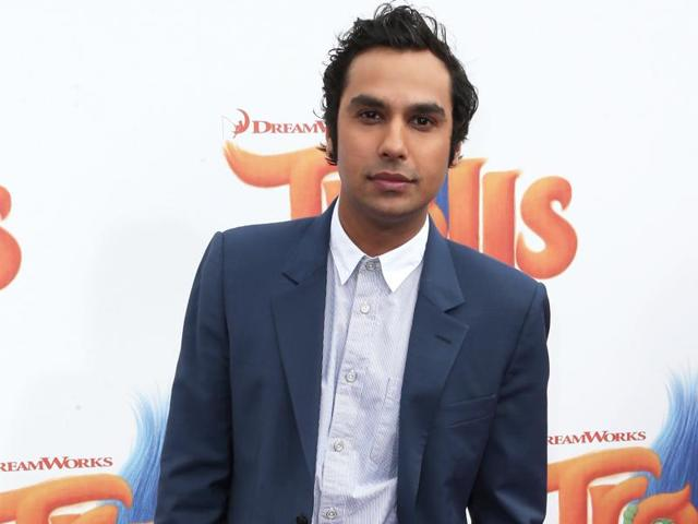 Kunal Nayyar at the movie premiere of 20th Century Fox's Trolls at Regency Village Theatre  in Westwood, California.