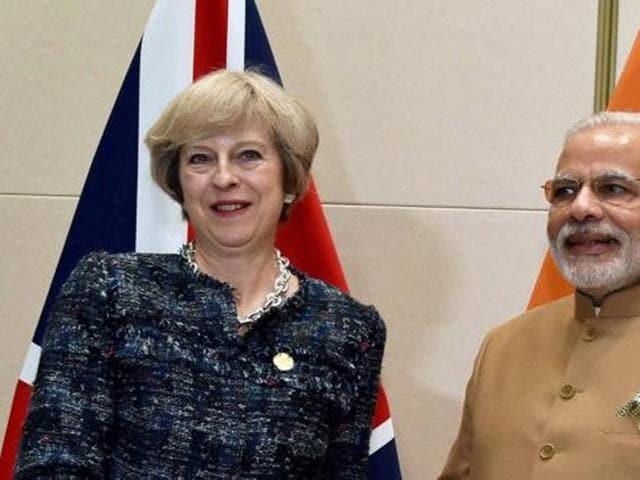 During May's visit beginning on November 6, India is likely to raise its concerns over problems being faced by Indian students in the UK due to visa curbs.