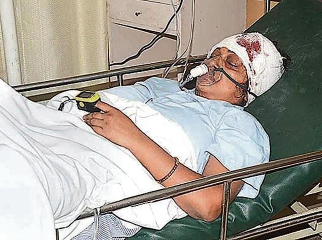 The woman is being treated in Delhi's GTBHospital.