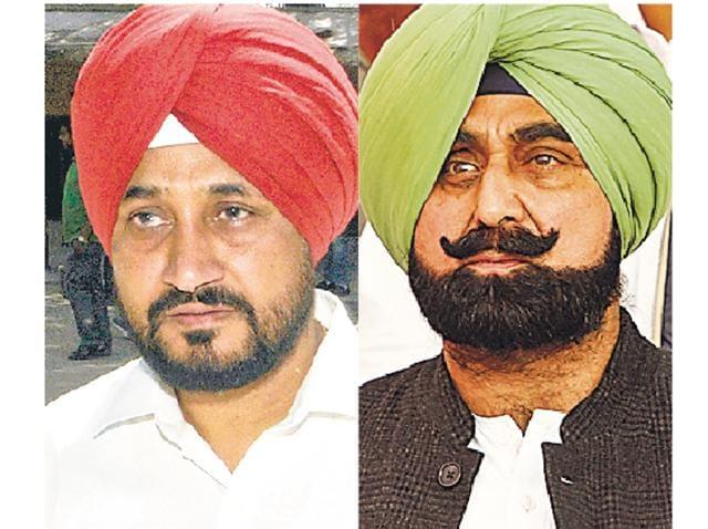 Charanjit Singh Channi and Jagmohan Singh Kang
