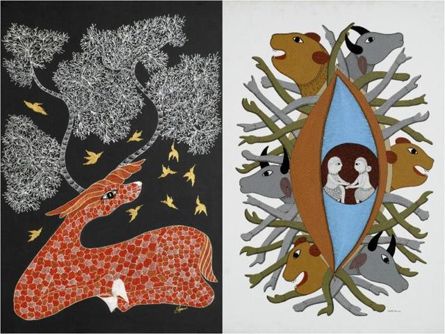 Earth Songs, an exhibition displaying tribal art, will be on  at the Lalit Kala Akademi till November 15.