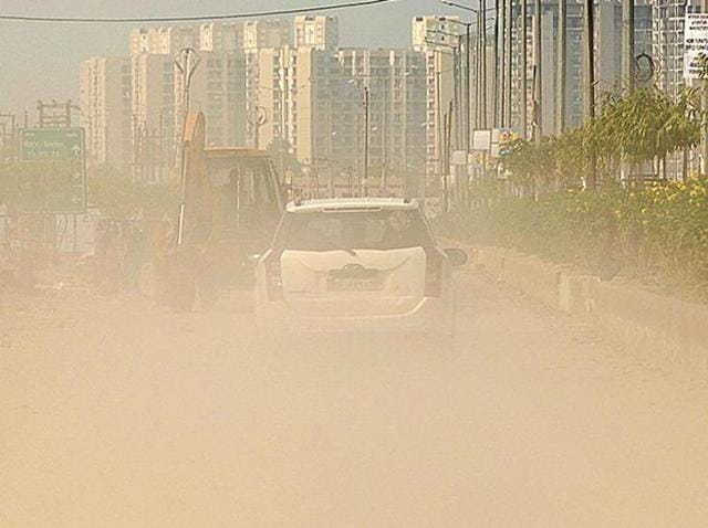 Due to multiple construction activities, air quality is extremely hazardous in Noida.