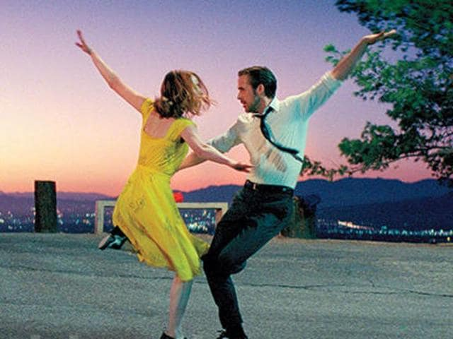 Emma Stone and Ryan Gosling sing and dance their hearts out in this old fashioned musical romance.