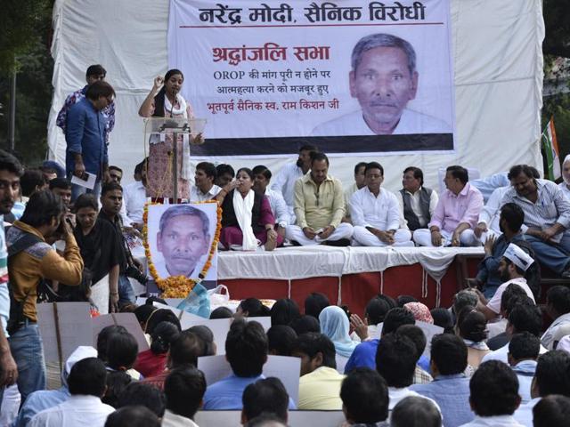 OROP,Arvind Kejriwal,Ram Kishan Grewal