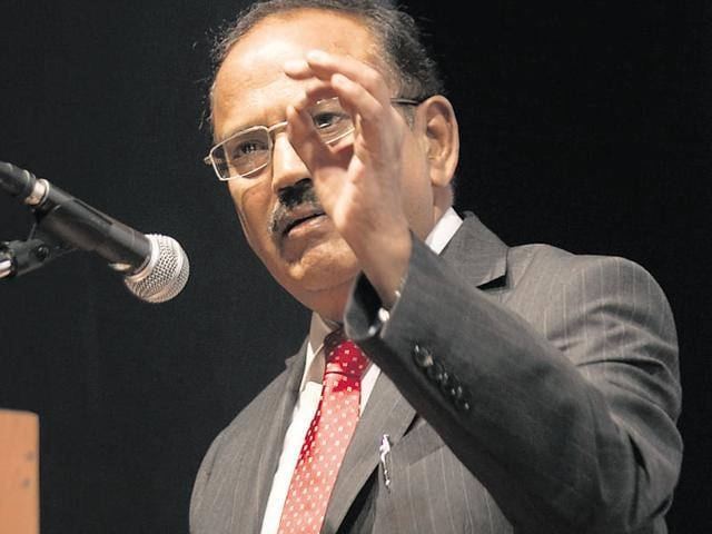 National Security Advisor Ajit Doval at an event in Mumbai.