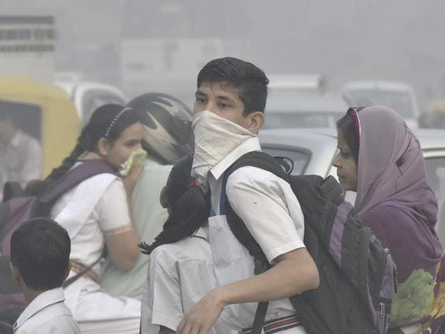 The decision would affect 900,000 children studying at schools run by the municipality in a city which has been enveloped by a thick smog since last weekend's Diwali festival celebrations.