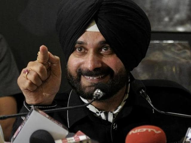 BJP MP Navjot Singh Sidhu at Parliament House during parliament session in February 2014. Sidhu floated a political front called the Awaaz-e-Punjab after quitting the BJP in July.