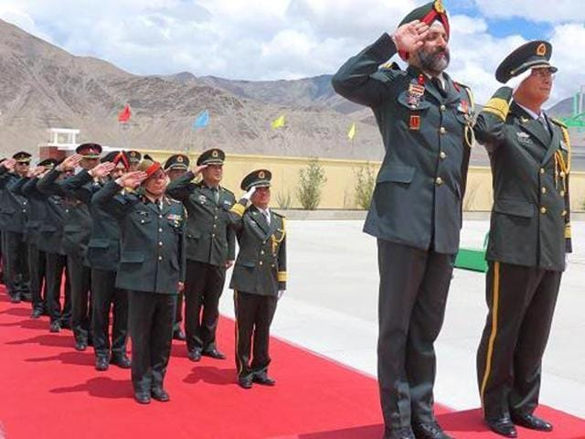 The Sino-Indian Border Personnel Meet that was held in the Daulat Beg Oldie area in Ladakh.  Indian and Chinese troops resolved a disagreement over a channel construction in Demchok, Ladakh.