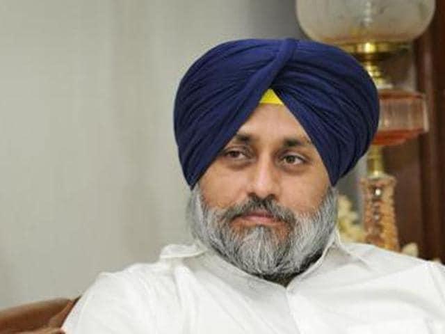 Punjab deputy chief minister and Shiromani Akali Dal president Sukhbir Singh Badal.