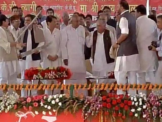 SP silver jubilee event,Akhilesh Yadav,Shivpal Yadav