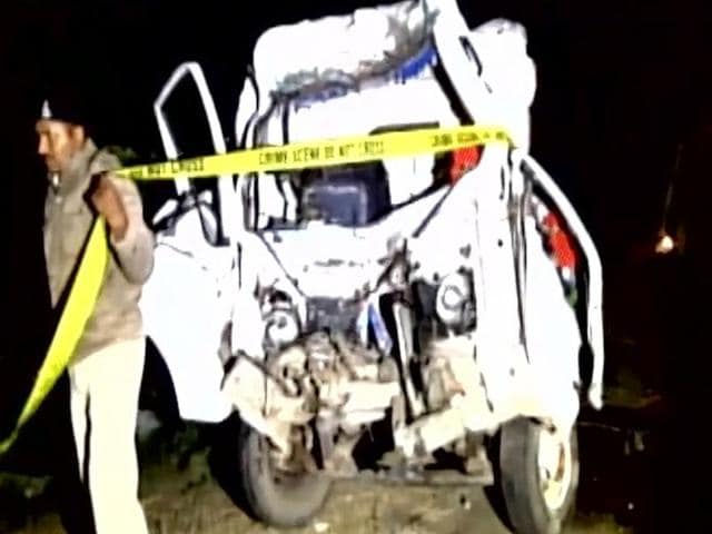 14 people were killed when a pick-up van collided with a truck in Gujarat.