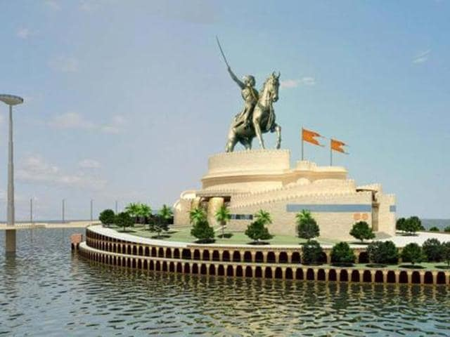 The memorial of the Maratha warrior assumes political significance in the wake of the ongoing agitations by the Maratha community.