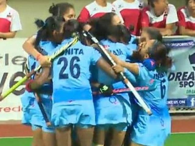 India beat China 2-1 with a last-gasp goal in the final to emerge winners for the first time in the Women's Asian Champions Trophy hockey tournament .