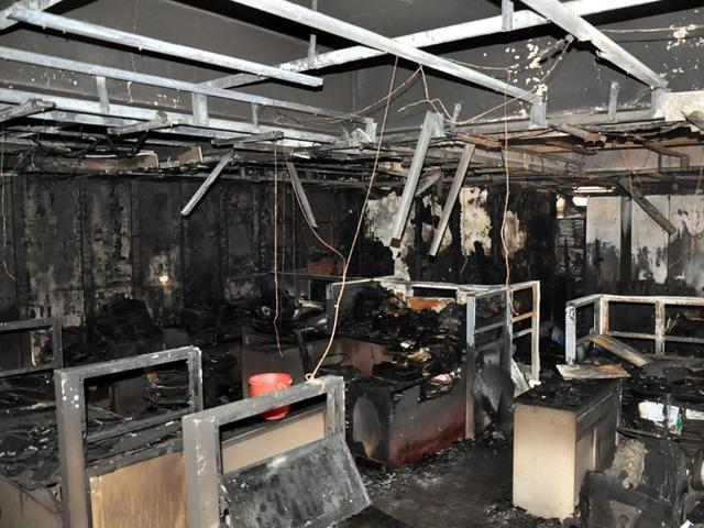 The estate record room of IDA was gutted on Thursday.