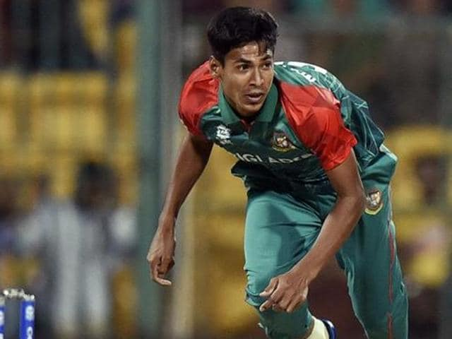 Mustafizur Rahman missed the England series due to a shoulder injury.