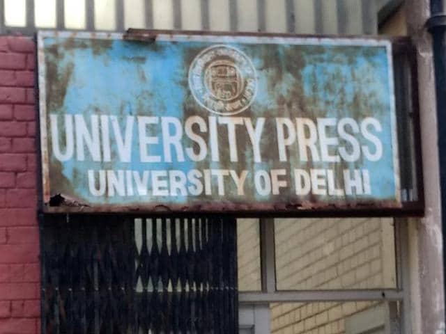 Delhi University Press,University publications,DUP