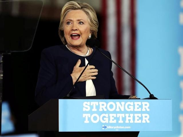 US Democratic presidential nominee Hillary Clinton speaks during a campaign rally in Detroit, Michigan.