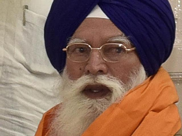 Kirpal Singh Badungar after his election as SGPC chief in Amritsar on Saturday.