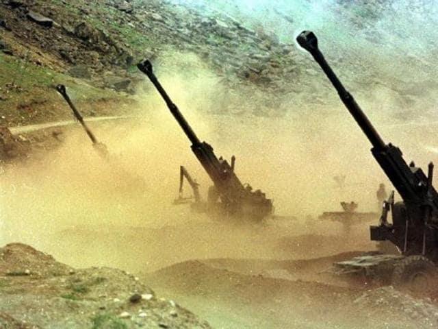 Indian Army,artillery guns,LOC