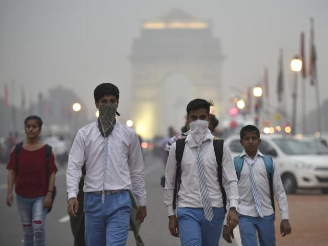 Smog envelopes Noida on Friday as the air quality continues to be classified as `severe' for nearly a week after Diwali.
