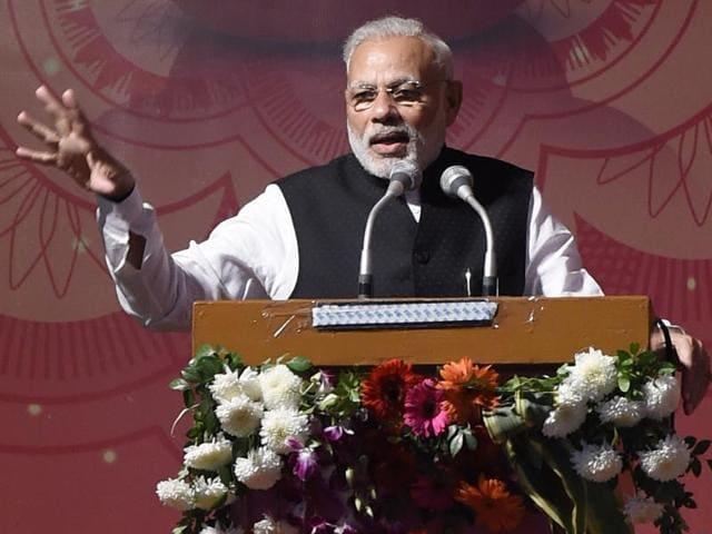 Prime Minister Narendra Modi during an event in New Delhi.(Arvind Yadav/HT File Photo)