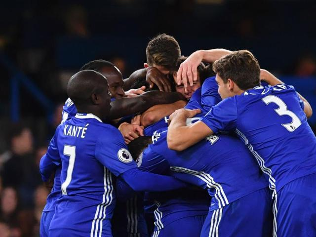 Chelsea's win, combined with Manchester City's 1-1 draw to Middlesborough, gave them top spot in the Premier League.