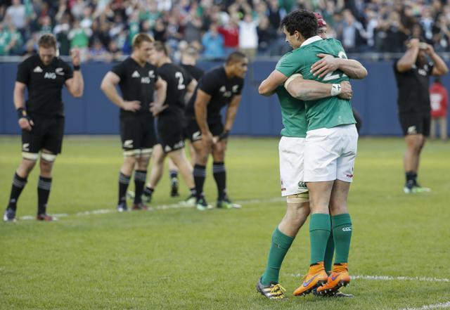 Ireland defeated New Zealand 40-29, securing their first win over the three-time Rugby World Cup champions.