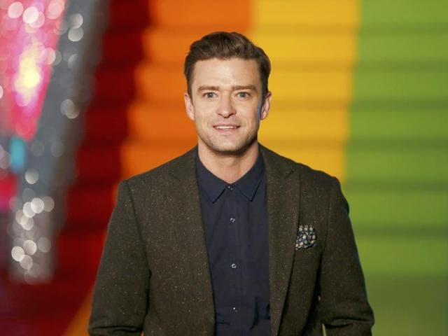 Justin Timberlake attends a photocall to promote the film Trolls in London.