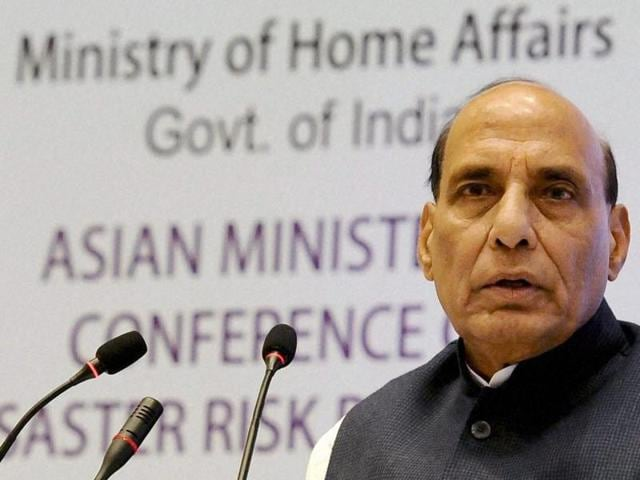 Union home minister Rajnath Singh addressed the audience during the concluding ceremony of Chhattisgarh's 16th foundation day celebrations at Naya Raipur.