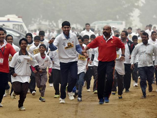 Salwan cross-country race,Delhi Pollution,Pollution