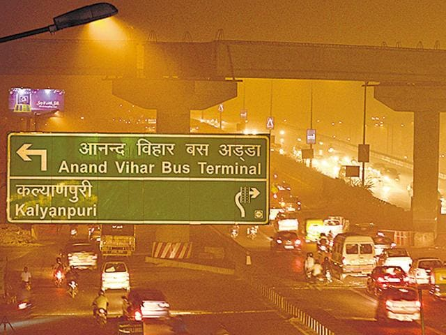 Anand Vihar is one of the most polluted spots of Delhi.