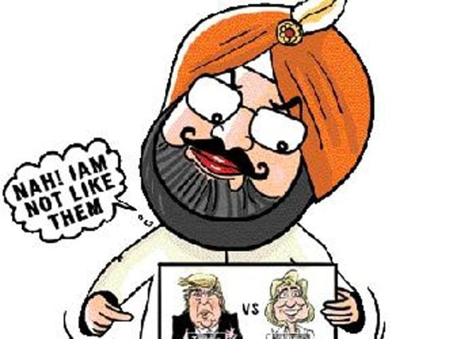 "I am not like Trump or Hillary who are fighting so bitterly. I have to do lots of work,"" said Punjab Congress president Capt Amarinder Singh at a press briefing last week. The former chief minister, who is leading his party's campaign in the assembly polls due early next year, made the remark after a series of queries on the rival parties."