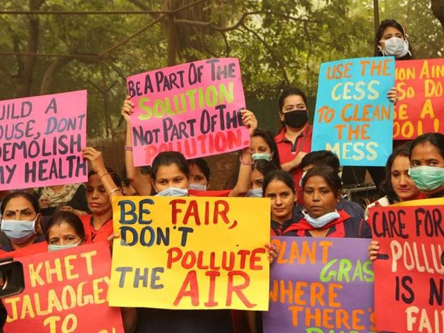 School students from across Delhi-NCR urge Delhiites to save the environment.