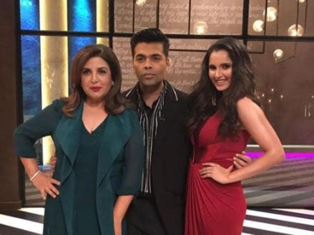 Koffee With Karan, hosted by director Karan Johar will be the first to bring together real life friends Sania and Farah on screen.