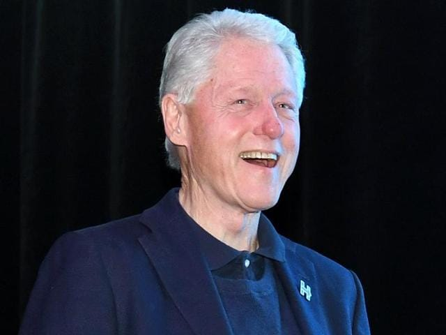 Former US president Bill Clinton arrives at a get-out-the-vote performance by DJ/producer Steve Aoki for Democratic presidential nominee Hillary Clinton in Las Vegas, Nevada.(AFP File Photo)