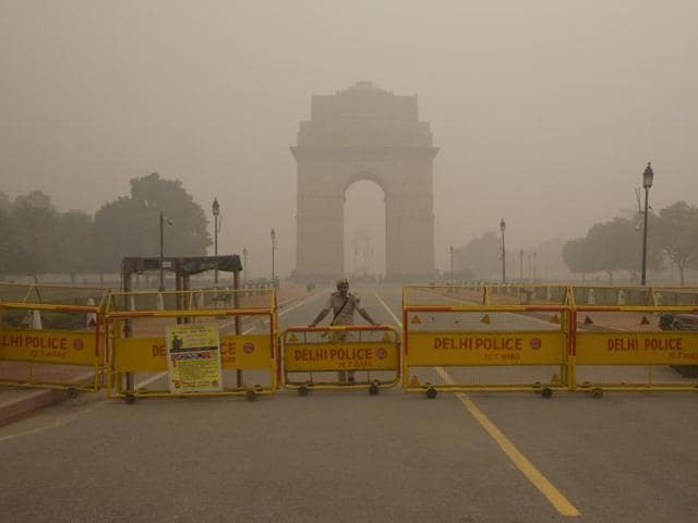 The thick smog cover looming over the national capital region for the last six days has been caused by a unique wind phenomenon .