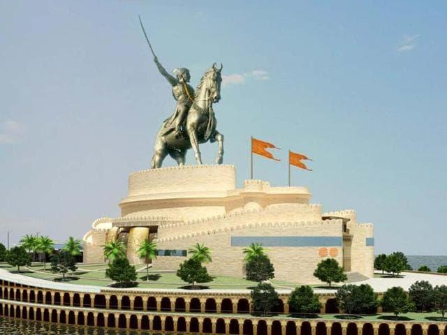 Shivaji,Shivaji memorial,Maratha architecture